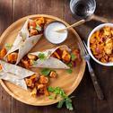 Wrap met kip, paprika en ui