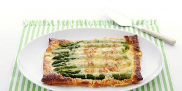 Groene aspergetaartjes