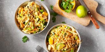 Thaise groene curry met kip en Aziatische groente