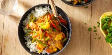 Vegetarische dagschotel met linzen en paprika-goulashsaus