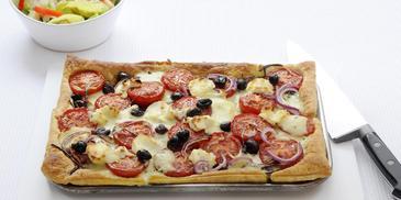 Quiche met geroosterde tomaat en geitenkaas