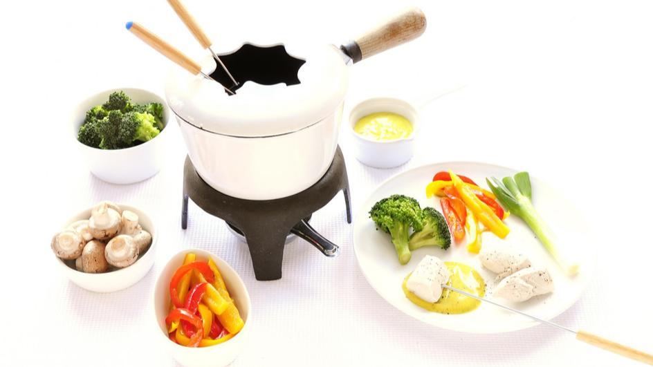 Chinese fondue met kip en groente