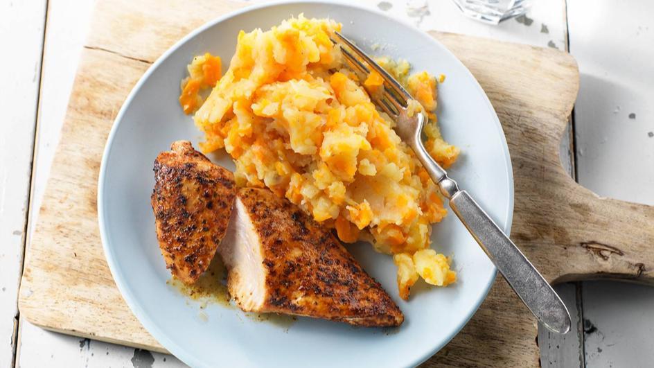 Mals & kruidige kipfilet met hutspot