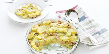 Witlof ovenschotel met ham en kaas