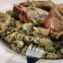 Rice with Broad Beans and Meat