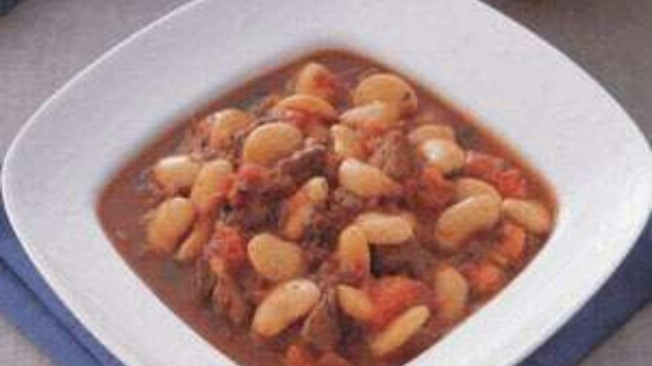 Syrian White Beans and Meat Stew