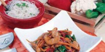 Chicken and Vegetables Stir–Fry