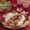 شيش طاووق مع الأرز الأبيض