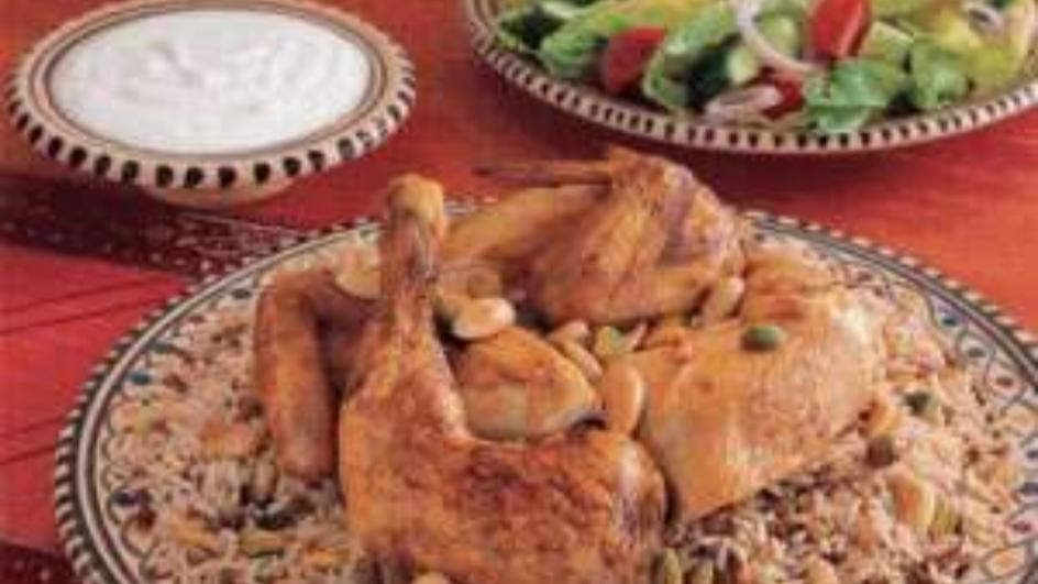 دجاج محمر مع الأرز الشرقي