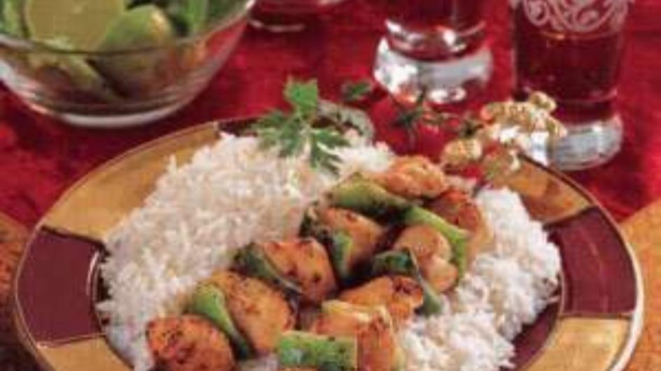 Shish Taouk with White Rice