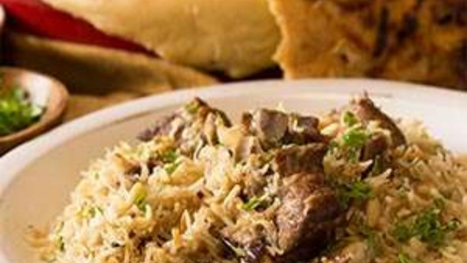 Oven Baked Rice with Lamb and Cauliflower