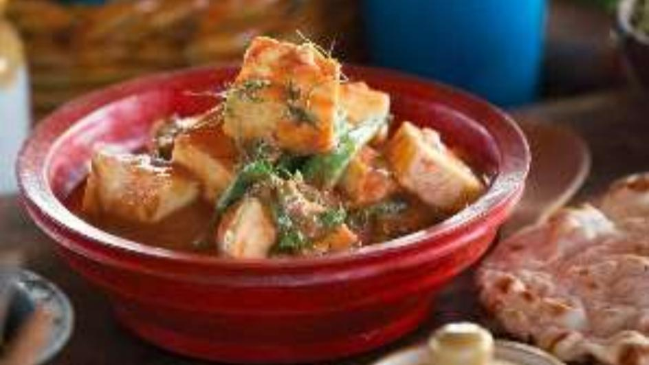 Paneer Masala with Spinach