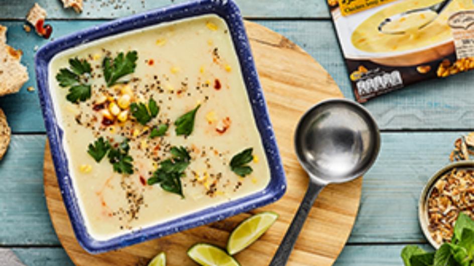 Spicy Cream Of Chicken & Corn Soup