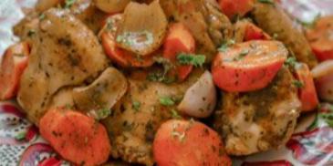 Pui marocan cu couscous