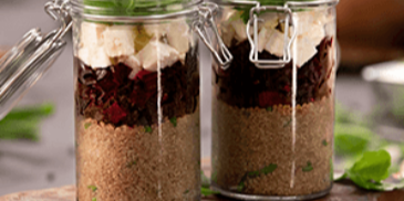 Healthy Quinoa Beetroot Jars