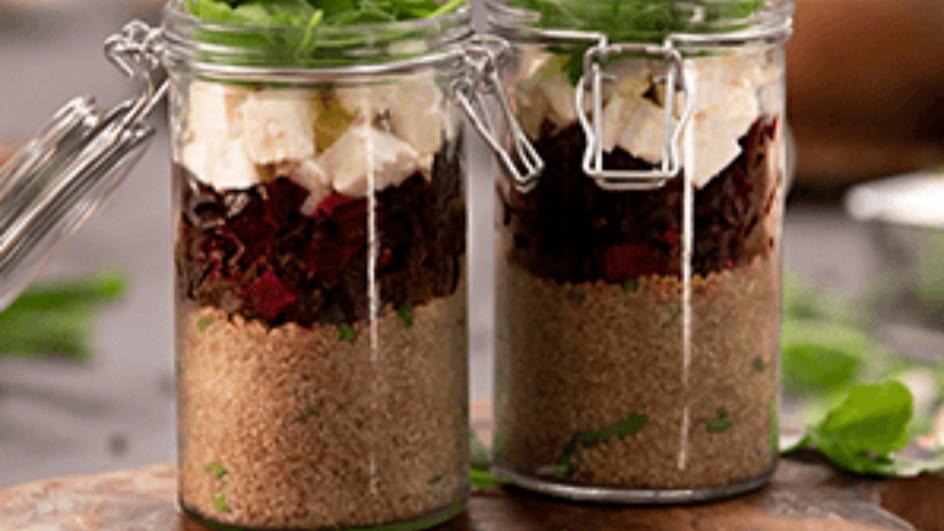 Healthy Quinoa Beetroot Jars