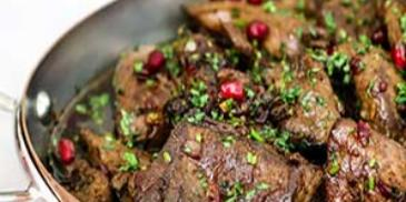 Pomegranate & Coriander Pan Fried Liver