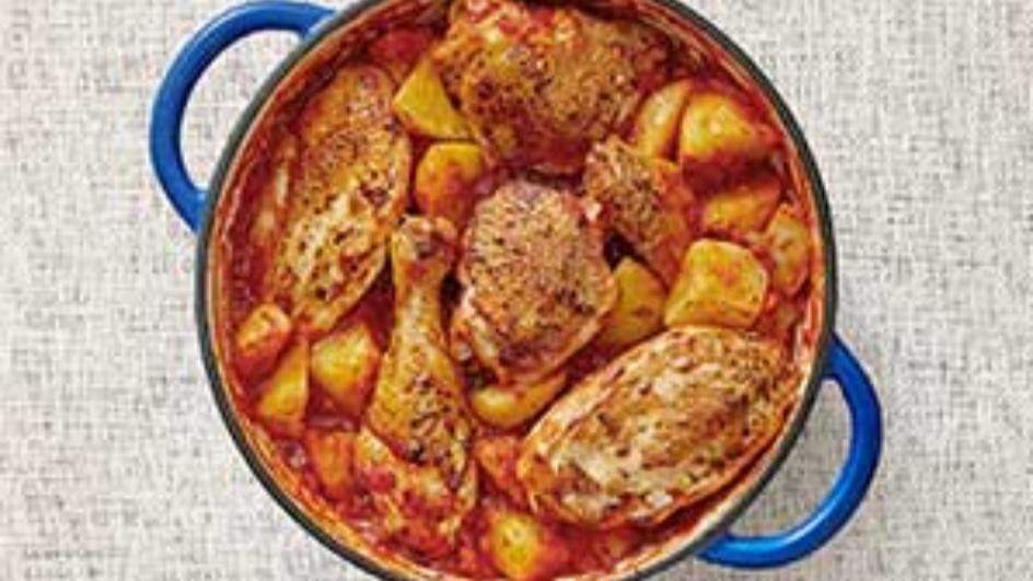 Potato and Chicken Oven Bake