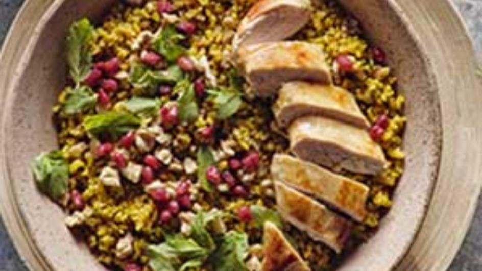 Freekeh Salad with Garden Vegetables & Herbs