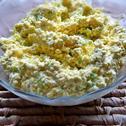 Pasta jajeczna z porem i żółtym serem