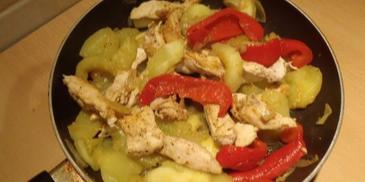 Kurczak z patisonami