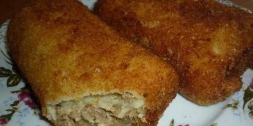 Krokiety z gotowanym mięsem