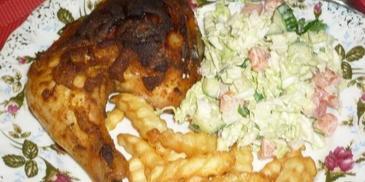 Udka z kurczaka pieczone w musztardzie
