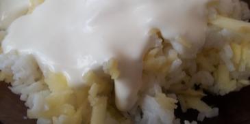 Ryż z jabłkiem i śmietaną