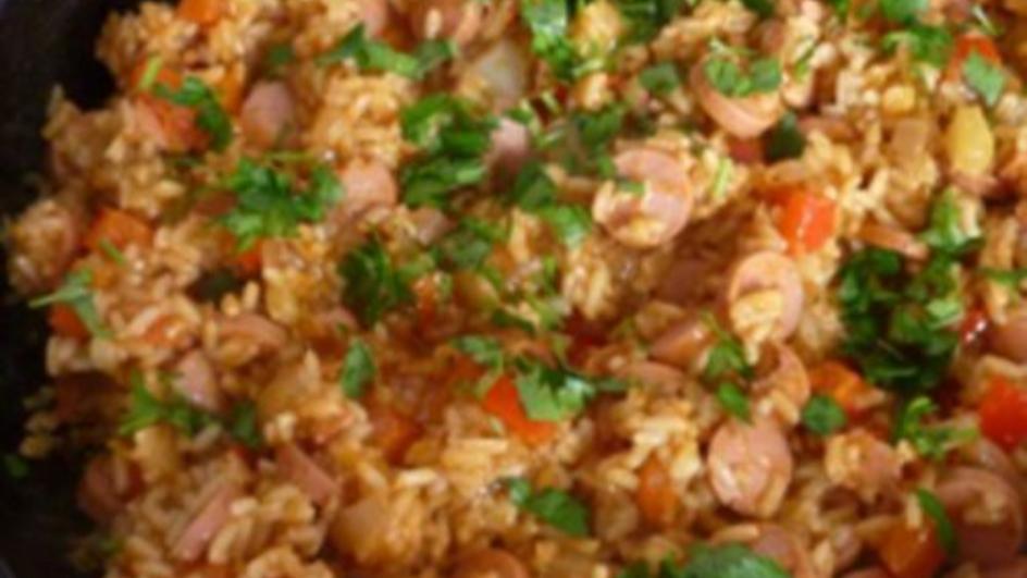 Ryż z parówkami