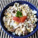 Sałatka z bakłażana i kukurydzy
