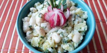 Sałatka z ziemniaków i fasoli