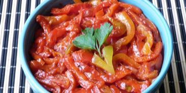 Papryka duszona z cebulą