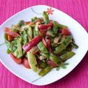 Fasolka szparagowa duszona z papryką i pomidorami
