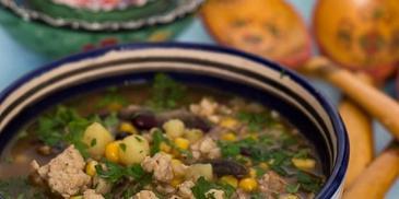 Meksykańska zupa z kaszą gryczaną