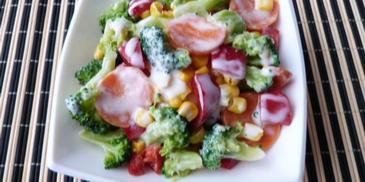 Sałatka z warzyw na parze