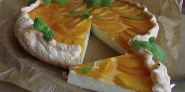 Tarta z ciasta francuskiego z brzoswkiniami