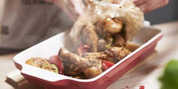 Kurczak z warzywami na sposób śródziemnomorski