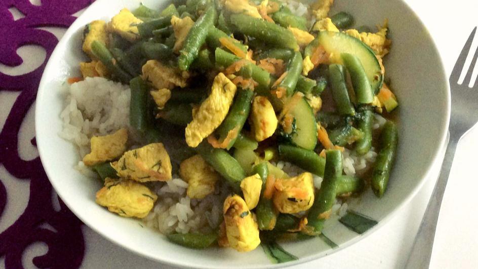 Risotto po mojemu, czyli ryż w sosie curry