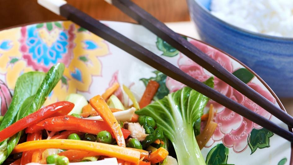 Warzywa z woka po tajsku