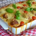 Zapiekanka z makaronem i pulpecikami w sosie