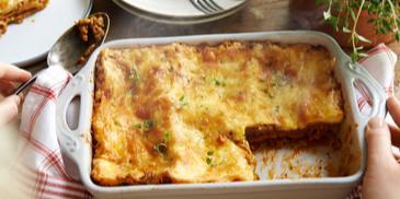Lasagne po bolońsku z parmezanem
