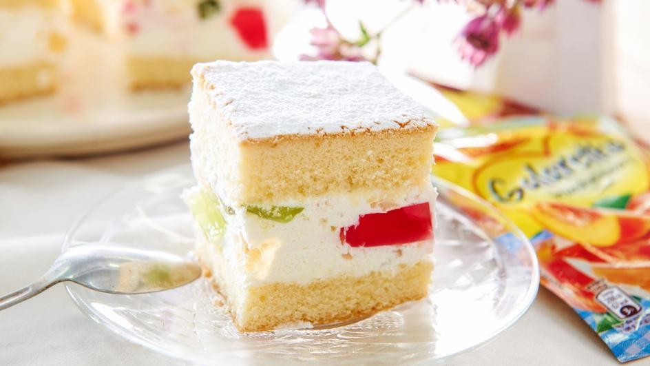 Ciasto śmietanowe z galaretkami