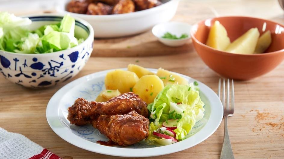 Soczysty kurczak w rozmarynie i ziołach