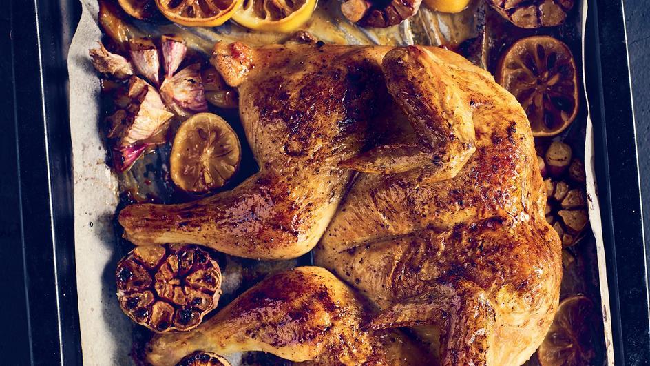 Kurczak z cytryną i czosnkiem