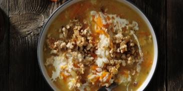 Ogórkowa z mięsem i ryżem