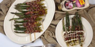 grillowane szparagi z boczkiem