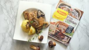 Schab w sosie grzybowo-tymiankowym
