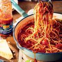Spaghetti z pieczonymi pomidorami