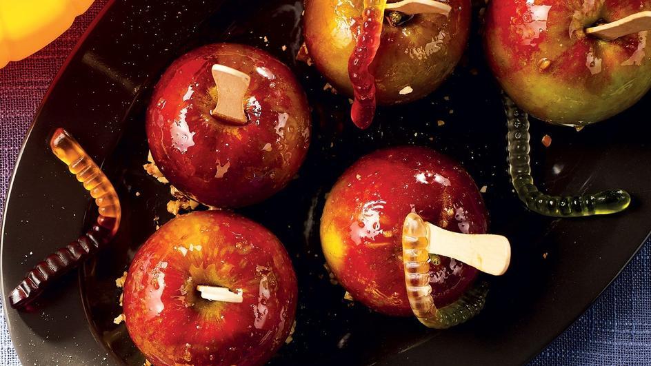Straszne jabłka w karmelu