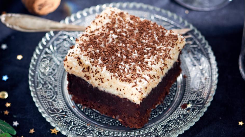 Brownie z kremem kokosowym